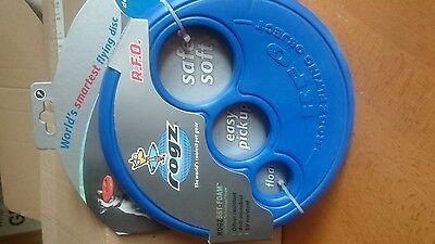 Rogz RFO Frisbee HundeFrisbee zahnfreundlich schwimmfähig leicht blau ()