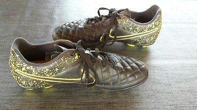 Nike Stollenschuhe Fußballschuhe Tiempo Gr. 38 Schwarz/Gelb (Schwarz Tiempo Stollen)