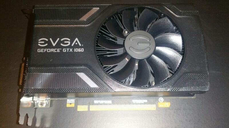 EVGA NVIDIA GeForce GTX 1060 6GB GDDR5 PCI Express 3.0 Graphics Card 06G-P4-6161-KR