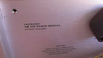Tektronix Tm506 6-slot Power Supply Mainframe Wopt 02 Pulse Mod-dp-16