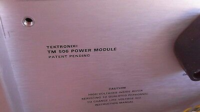 Tektronix Tm506 6-slot Power Supply Mainframe Wopt 02 Pulse Mod-dp-16