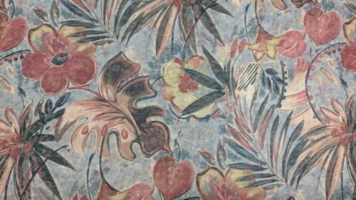 MATERIAL UPHOLSTERY FOUR WINNS 54 INCH BOAT MARINE GRADE FABRIC JUNGLE FLORAL