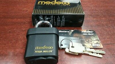 New Medeco M3 Padlock With 4 Keys And Duplication Card Locksmith High Security