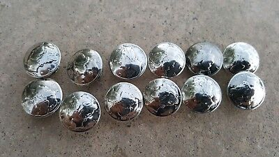 12 Real Mercury Dime Concho Buttons - Chicago Screw Back NICE!