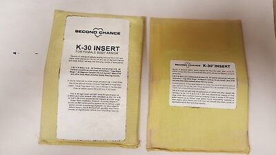 Second Chance K-30 5x7 Body Armor Chest Plate Insert - Level II