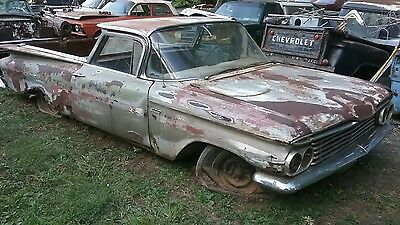 1959 Chevrolet El Camino parts car restore 283 manual mostly complete Rusty Iowa