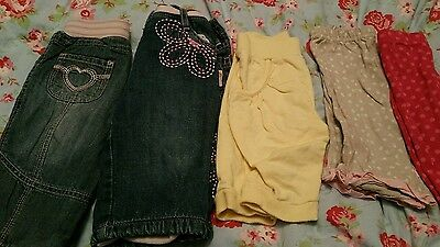 Baby girl trousers bundle 0-3 and 3-6
