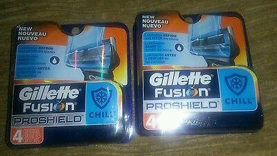 Gillette FUSION Proshield Chill  Razor Blades 8 Cartridges