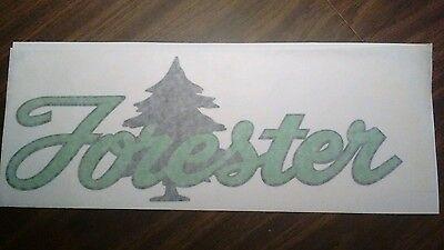 Forester Travel Trailer Vintage style decal vinyl greens & black 10