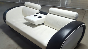 Divani Casa Modern Black and White Leather Sofa Set (RRP: $3300) North Turramurra Ku-ring-gai Area Preview