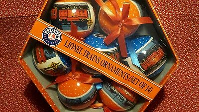 Lionel 14 Ornament Set With Gift Box , SEALED new in box