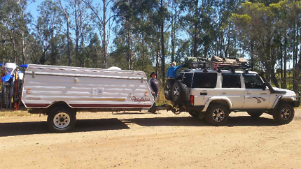 OFF ROAD POP TOP CAMPER WITH MOTORBIKE RACK Corlette Port Stephens Area Preview