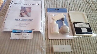Home Science Tools Microscope Starter Kit Homeschool Classroom Optics Cleaning