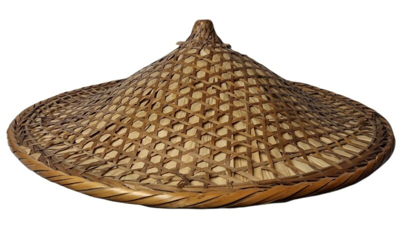 Vintage Asian Conical Hat Chinese Coolie Rice Paddy Framer