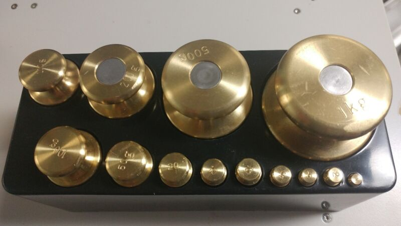 Troemner Brass Precision Weights Lab balance calibration Set of 13