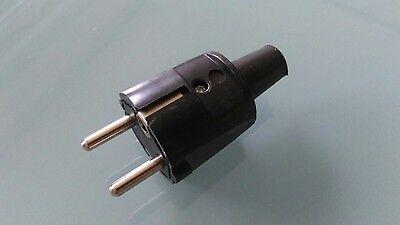 ABL PVC Schuko Stecker, für Leitungen bis 3x1,5mm² , schwarz