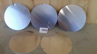 Aluminum Five 5 Piece 5- Disk Plate Flat Metal Circles 040