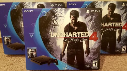 Playstation 4 - Sony PlayStation 4 Slim 500GB Console Uncharted 4 A Thief's End PS4 Game Bundle