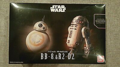 Star Wars Bb8 R2d2 1 12 Scale Bb 8 R2 D2 Model Kit Bandai Us Seller