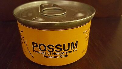 New Joke Gag Gift Sealed Canned Possum Meat Road Kill Funny Rare