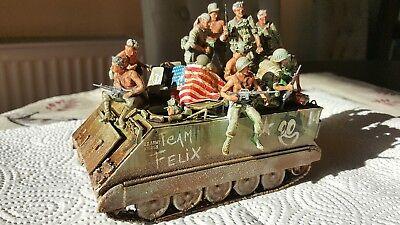 M113 1:35 Vietnam Gebaut Pro Built mit aufgesessener Mannschaft Modell Diorama