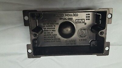 Allied Moulded Single Gang Electrical Box (P-108E)Lot of 24