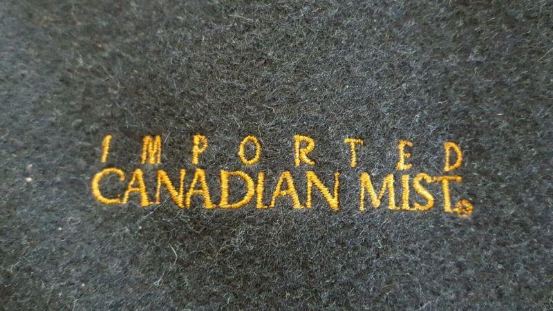 Rare Canadian Mist Whiskey Letterman Bomber Jacket Wool/Leather Holloway Sz L