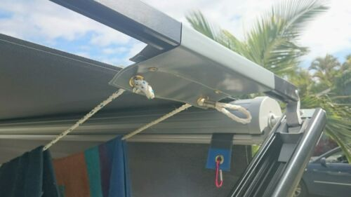 Caravan Roll Out awning Clothesline