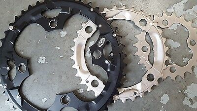 Shimano DEORE Chainrings 7/8/9 Speed (22+32+44t) Mountain Bike (SET OF 3) NEW
