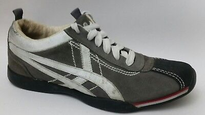 Reaction Suede Leather Oxford Sneakers Mens 9.5 Med Gray White Black Black Shoes White Suede Oxford
