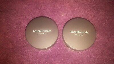 PACK OF 2 Bare Minerals Escentuals SPF 15 MEDIUM BEIGE - N20 8g XL (FREE SHIP)