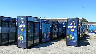 True Beverage Cooler Pass Through Merchandiser Refrigerator W/Swinging Doors