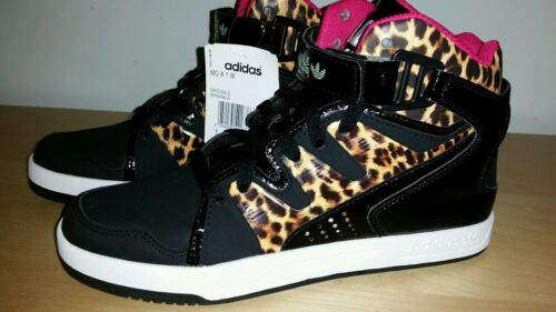 aca9ed7c7 New Adidas Originals MC-X1 Women Trainers Shoes Size 7 Black Animal Print  Pink фото