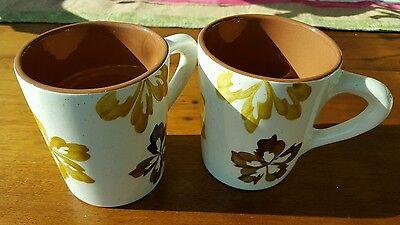 Mid Century STANGL Pottery PAISLEY Coffee Mugs x2