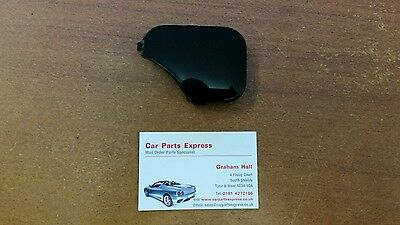 FORD FIESTA MK6 05   08 PANTHER BLACK FRONT BUMPER TOWING EYE COVER CAP NEW