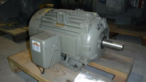 20 Hp General Electric Motor, 1200 Rpm, 284t 286t Frame, Tefc, 460 V, New