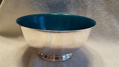 Vintage Reed and Barton Silver Plated Footed Bowl. Enamel lined.