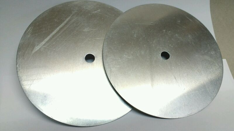 """6"""" Aluminum Disc, Clock Circle with center hole, 2 in set, Clock Face Rounds"""