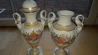 Ak Kaiser Vase Amphore Sanssouci Selten Schwanenhenkel Vase Gold mit Deckel