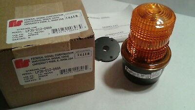 Federal Signal Lp3s-012-048a Streamline 12-48v 0.44-0.10a Amber Strobe Light