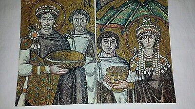 Ravenna Vitalis Christian Byzantine mosaics 2 postcards