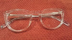 f4b2a9298d WARBY PARKER Haskell 500 Crystal eyeglass frames clear 49 22 145 New