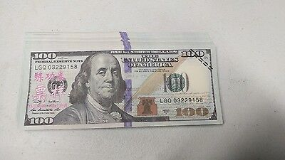 PROP MONEY NEW STYLE 1 $100  FULL PRINT FRONT AND BACK for Movie, TV, Videos