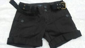 Sanctuary Clothing Los Angeles Juniors Shorts & belt Size 3 Peace label inside