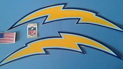 San Diego Chargers Football Helmet Decals Set