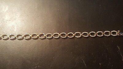 "14k Solid Yellow Gold Natural 2 CT Diamond Bracelet 7"""