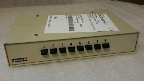 QUICK SET 42080 VIDEO SWITCHER 8 CHANNEL 1255 1285 $49