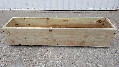 Wooden Window Box Garden Planter 80cm