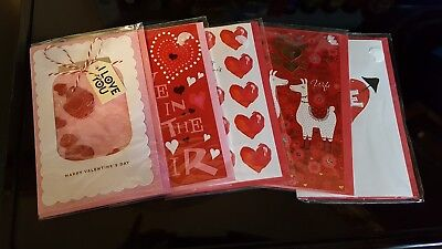 Valentine's Day Greeting Cards lot. Gift ideas  5 card lot *NEW* (Valentine Day Card Ideas)