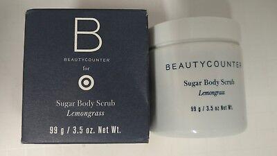 NEW Beautycounter Lemongrass Sugar Body Scrub 3.5 oz  Free -